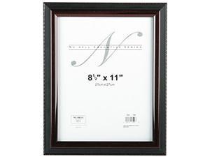 """Nu-Dell 17402 Executive Frame - 8.5"""" x 11"""" - Plastic - Black, Mahogany"""