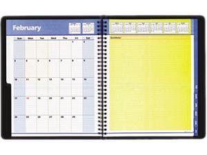 "AT-A-GLANCE 76-11-05 QuickNotes Recycled Weekly/Monthly Planner, Black, 8"" x 9 7/8"""