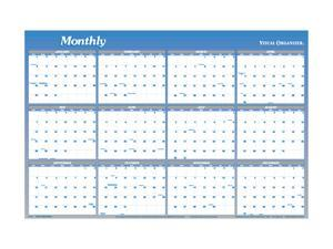 "Visual Organizer A1152 Visual Organizer Vertical/Horizontal Erasable Wall Planner, 48"" x 32"""