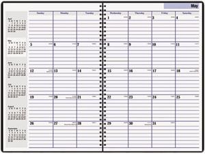 "DayMinder Premiere AY2-00 Recycled Monthly Planner, Black, 7 7/8"" x 11 7/8"""