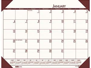House of Doolittle™ EcoTones Moonlight Cream Monthly Desk Pad Calendar, 22 x 17
