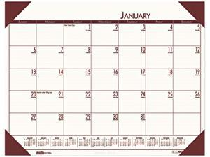 House of Doolittle 12441 - EcoTones Moonlight Cream Monthly Desk Pad Calendar, 22 x 17, 2015
