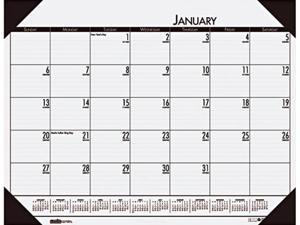 House Of Doolittle 124-42 2014 EcoTones Mountain Gray Monthly Desk Pad Calendar, 22 x 17