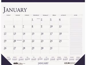 House of Doolittle 164 Two-Color Monthly Desk Pad Calendar w/Large Notes Section, 22 x 17