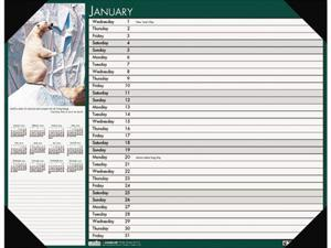 House Of Doolittle 173 2014 Wildlife Photographic Monthly Desk Pad Calendar, 22 x 17