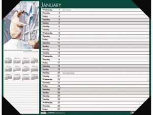 House Of Doolittle 1736 2014 Wildlife Photographic Monthly Desk Pad Calendar, 18-1/2 x 13