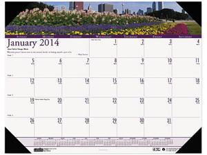 House of Doolittle™ Gardens of the World Photographic Monthly Desk Pad Calendar, 22 x 17