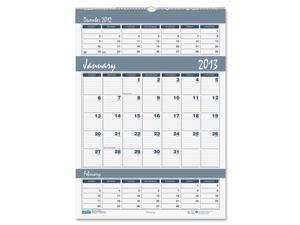 House of Doolittle 343 Bar Harbor Wirebound Three-Months-per-Page Wall Calendar, 15-1/2 x 22