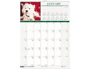 House of Doolittle™ Puppies Monthly Wall Calendar, 12 x 16-1/2