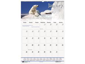 House of Doolittle™ Wildlife Scenes Monthly Wall Calendar, 12 x 16-1/2