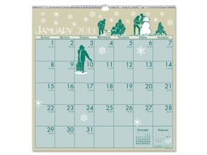 House of Doolittle 376 Illustrated Monthly Wall Calendar, 12 x 12