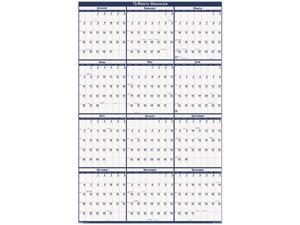 House Of Doolittle 3960 Poster Style Reversible/Erasable Yearly Wall Calendar, 18 x 24