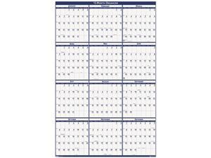 House Of Doolittle 3961 2014 Poster Style Reversible/Erasable Yearly Wall Calendar, 32 x 48