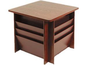 Buddy Products 9298-16 Reception Tables, Square, 23-1/4w x 23-1/4d x 21h, Mahogany