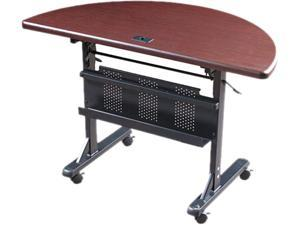 BALT 89877 Flipper Training Table, Half-Round, 48w x 24d x 29-1/2h, Mahogany