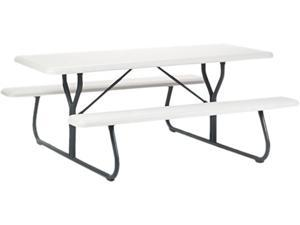 Iceberg 65923 IndestrucTable TOO 1200 Series Resin Picnic Table, 72w x 30d, Platinum