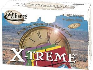 X-treme File Black Rubber Bands, 7 x 1/8, 175 Bands/1lb Box