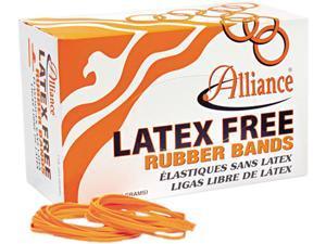 Alliance 37646 Latex-Free Orange Rubber Bands, Size 64, 3-1/2 x 1/4, 440 Bands/1-1/4lb Box