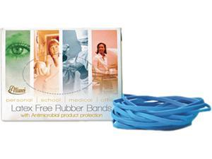 Antimicrobial Cyan Blue Rubber Bands, Size 64, 3-1/2 x 1/4, 1/4lb Box