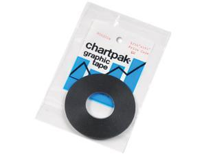 "Chartpak BG6201M Graphic Chart Tape, 1/16"" x 648"", Matte Black"