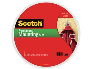 Scotch 110-LONG Foam Mounting Double-Sided Tape, 3/4 Wide x 350 Long