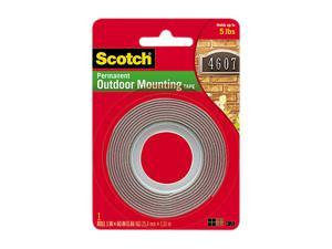 Scotch 4011 Exterior Weather Resistant Double Sided Tape 1 X 60 Gray W Red Liner