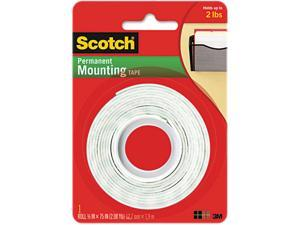 Scotch 110 Foam Mounting Double-Sided Tape, 1/2 Wide x 75 Long