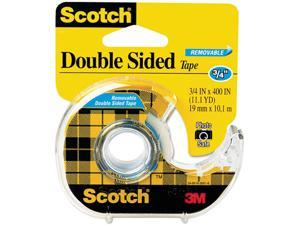 "Scotch 667 667 Double-Sided Removable Office Tape and Dispenser, 3/4"" x 400"""