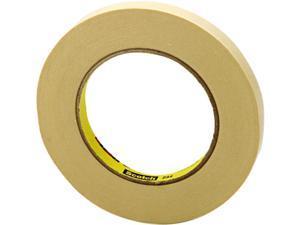 "Scotch 234-1/2 General Purpose Masking Tape 234, 1/2 x 60 yards, 3"" Core, Natural"