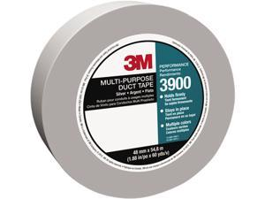 "3M 3900 Poly-Coated Cloth Duct Tape, General Maintenance, 2"" x 60 yards, Silver"