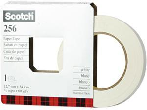 "Scotch 256-1/2 256 Printable Flatback Paper Tape, 1/2"" x 60 yards, 3"" Core"
