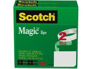 """Scotch 810-2P34-72 Magic Tape, 3/4"""" x 2592"""", 3"""" Core, 2 Rolls"""