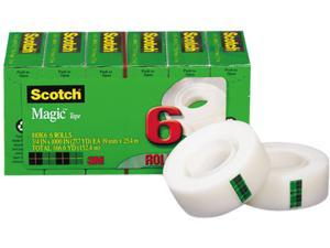 "Scotch 810K6 Magic Tape Refill, 3/4"" x 1000"", 6/Pack"