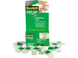 """Scotch 90M-12PK Pop-up Magic 3/4"""" Tape Strip Refill, Clear, 75/Pad 12/Pack"""