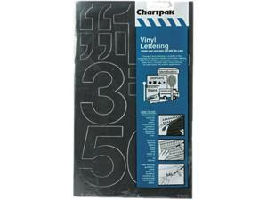 "Chartpak 01170 Press-On Vinyl Numbers, Self Adhesive, Black, 3""h, 10/Pack"