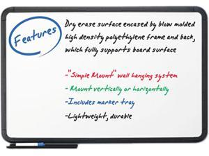 "Iceberg 37031  Collaboration Ingenuity Dry Erase Board, 36"" x 24"" - Polyethylene Frame - White Board"