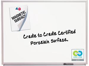 Quartet 2543 Magnetic Dry-Erase Board, Porcelain, 36 x 24, White, Aluminum Frame