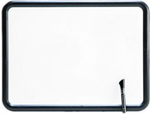 Quartet 7551 Contour Dry-Erase Board, Melamine, 24 x 18, White, Gray Frame