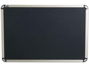 Quartet                                  Euro-Style Bulletin Board, High-Density Foam, 36 x 24, Black/Aluminum Frame