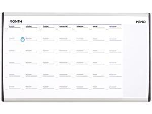 Quartet ARCCP3018 Magnetic Dry Erase Calendar, Painted Steel, 18 x 30, White/Aluminum Frame