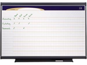 Quartet PP32 Prestige Total Erase Project Planner, 36 x 24, Gray Aluminum Frame