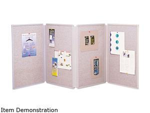 Quartet 773630 Tabletop Display Presentation Board, Fabric, 72 x 30, Gray