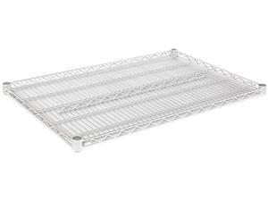 Alera SW58-3624SR Industrial Wire Shelving Extra Wire Shelves, 36w x 24d, Silver, 2 Shelves/Carton