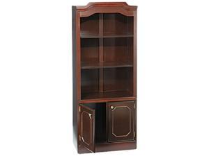 DMi 7350-09 Governor's Series Bookcase With Doors, 3 Shelves, 30w x 14d x 74h, Mahogany
