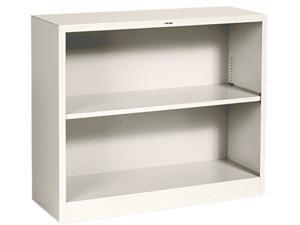 HON S30ABCL Metal Bookcase, 2 Shelves, 34-1/2w x 12-5/8d x 29h, Putty