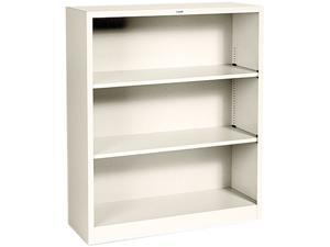 HON S42ABCL Metal Bookcase, 3 Shelves, 34-1/2w x 12-5/8d x 41h, Putty
