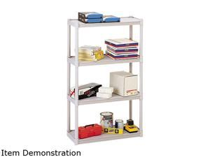 Iceberg 20843 Rough N Ready 4 Shelf Open Storage System, Resin, 32w x 13d x 54h, Platinum