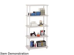 Iceberg 20853 Rough N Ready 5 Shelf Open Storage System, Resin, 36w x 18d x 74h, Platinum