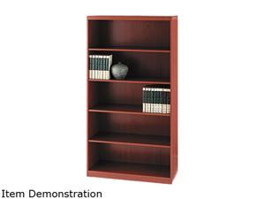 Mayline AB5S36LCR Aberdeen Series Laminate 5-Shelf Bookcase, 36w x 15d x 68¾h, Cherry