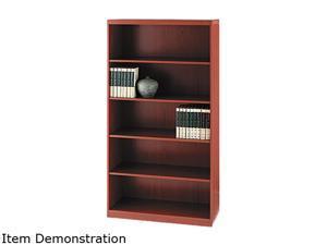 Mayline AB5S36LCR Aberdeen Series Laminate 5-Shelf Bookcase, 36w x 15d x 68¾h, Cherry